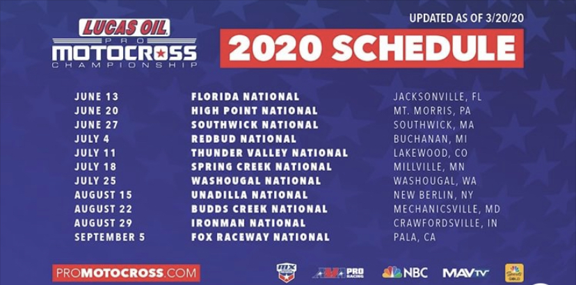 Late start to AMA motocross for 2020