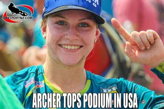 Rachael Archer tops the podium in the USA