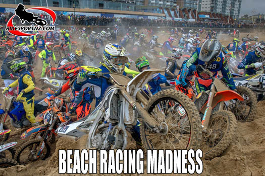 Beach racing in The Netherlands