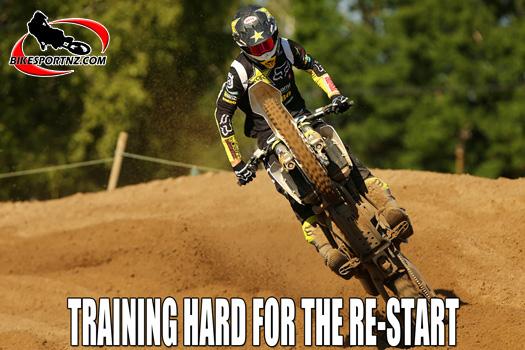 Training hard for re-start of MXGP season