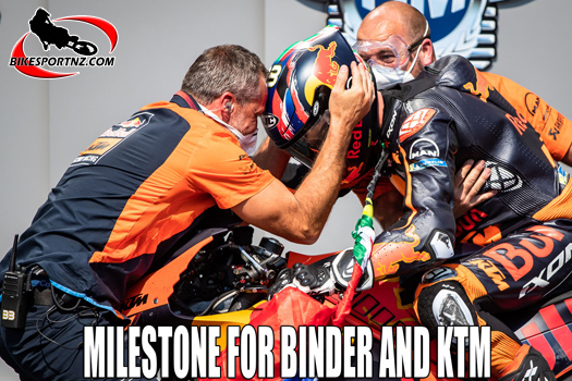 Milestone win for Binder and KTM factory too