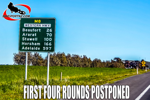 First four rounds in Australia postponed