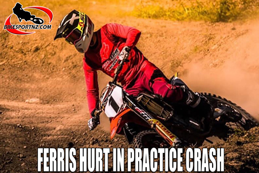 Dean Ferris hurt in practice crash