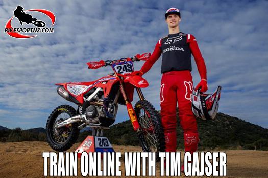 Train on-line with three-time world champ Tim Gajser