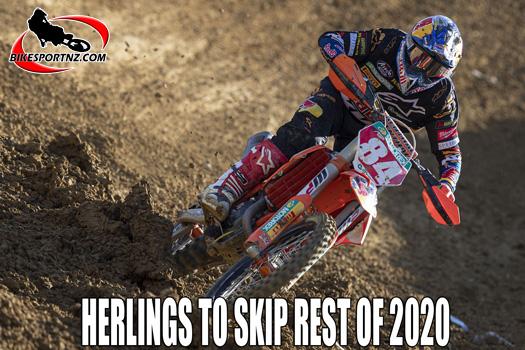 Jeffery Herlings to remain on the sideline