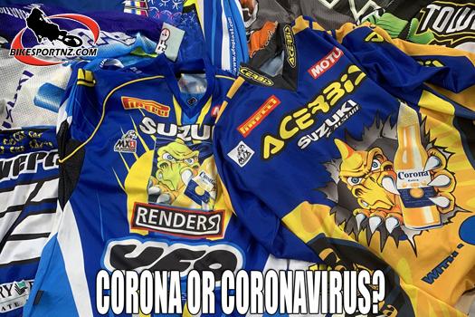 Corona and virus juxtaposition