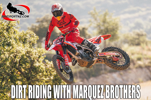 Marquez brothers go dirt bike racing