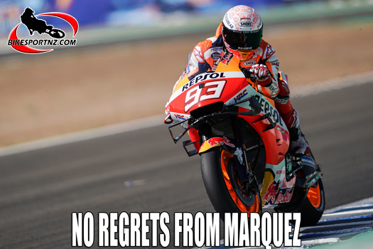 Marc Marquez gave it his best in Spain