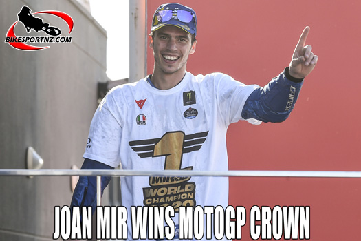 Spain's Joan Mir is crowned 2020 MotoGP champion