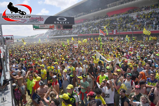 MotoGP attracts large crowds and this might be a problem