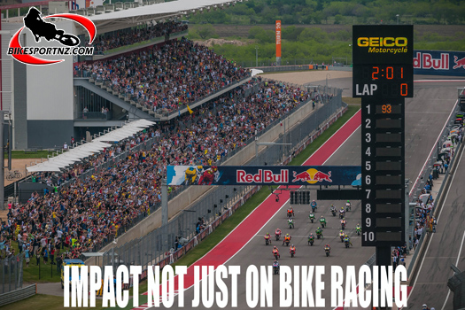 MotoGP attracts large crowds and that might now be a problem