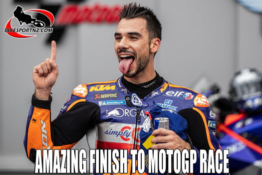 Miguel Oliveira celebrates a first for Portugal
