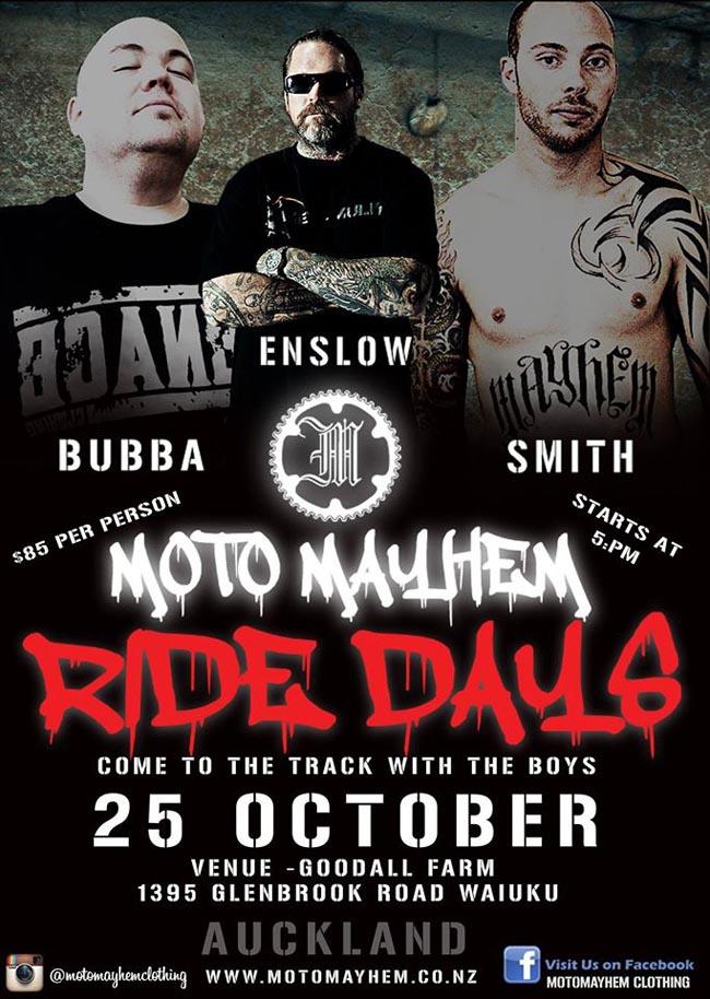 Poster-Moto Mayhem Ride Days-2014-a