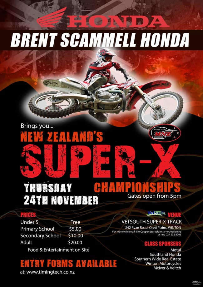 Supercross A3 poster 2016