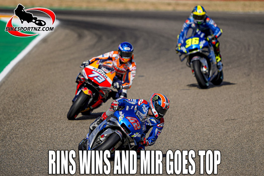Rins wins and team-mate Mir goes to the top