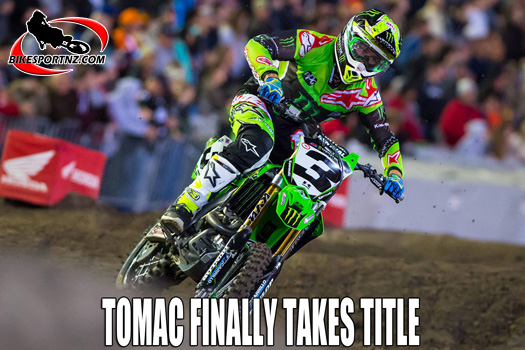 Eli Tomac finally clinches US Supercross crown