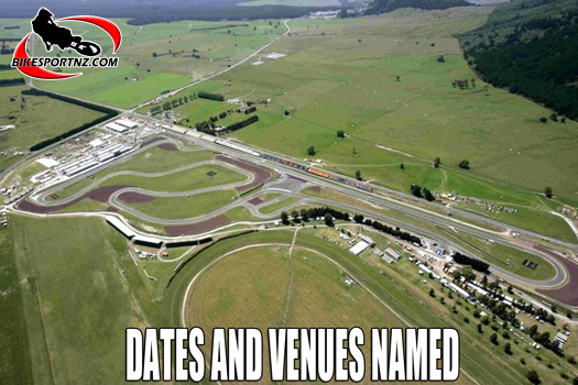 Dates and venue for road-racing in New Zealand