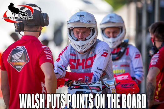 Dylan Walsh makes progress in Italy