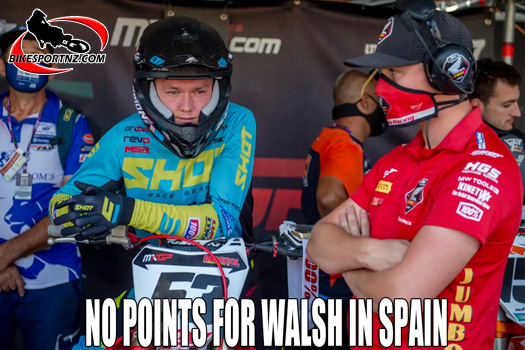 Difficult weekend for Walsh in Spain