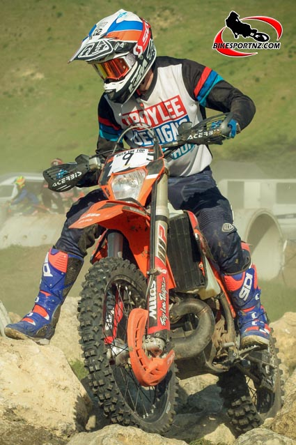 Jake Whitaker, an eight-time NZ trials champion and now an enduro star