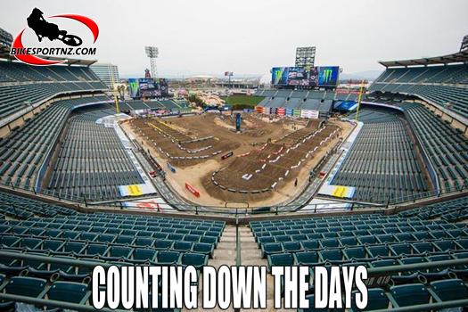 AMA Supercross at Anaheim Stadium in California