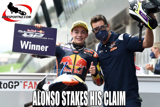 David Alonso closing in on Red Bull Rookies crown