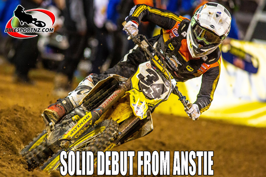 Solid supercross debut from Max Anstie