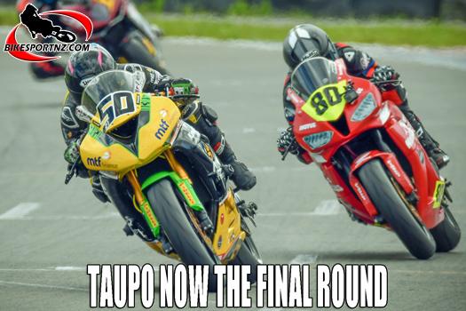 NZSBK will wrap up at Taupo next Sunday