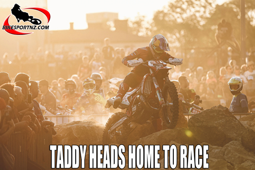 Taddy Blazusiak is strapping up his shoulder to race again