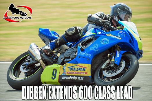 Richie Dibben takes charge of 600cc class