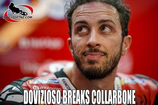Dovizioso breaks bone in MX crash