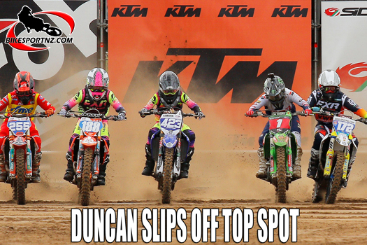 Courtney Duncan slips off the top spot