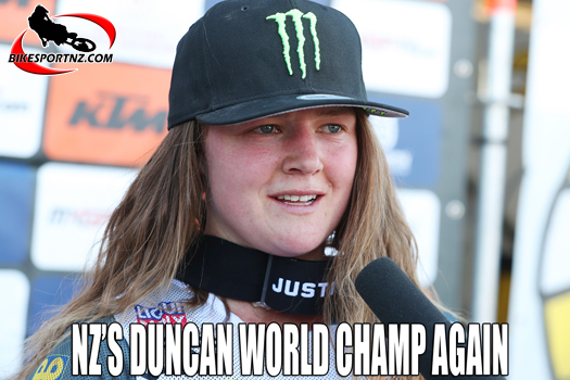 NZ's Courtney Duncan is world champion again