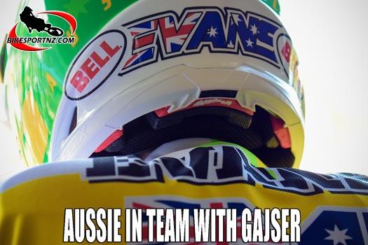 Aussie rider teams up with MXGP champ Gajser