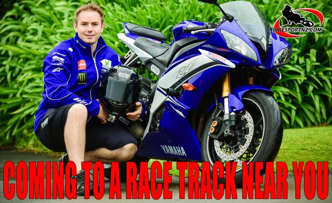 19112016 SPORTS ANDY McGECHAN/BikesportNZ.com. CAPTION: New Plymouth's Hayden Fitzgerald (Yamaha), itching to get back into the thick of the action this summer. Photo by Andy McGechan, BikesportNZ.com