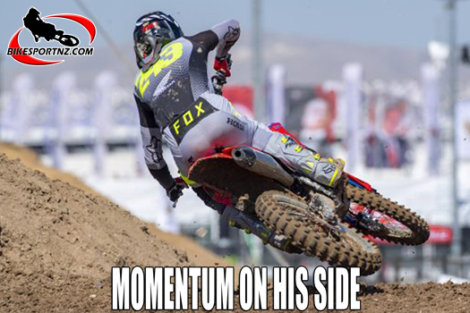 Tim Gajser is in the driving seat