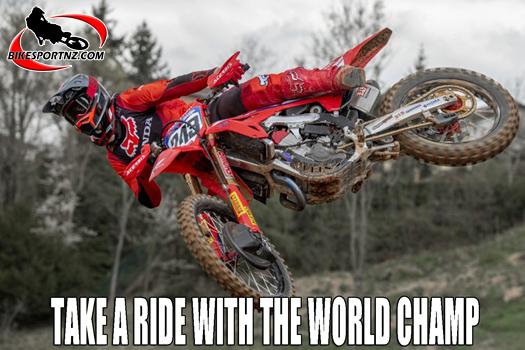 Take a ride with MXGP world champion Tim Gajser