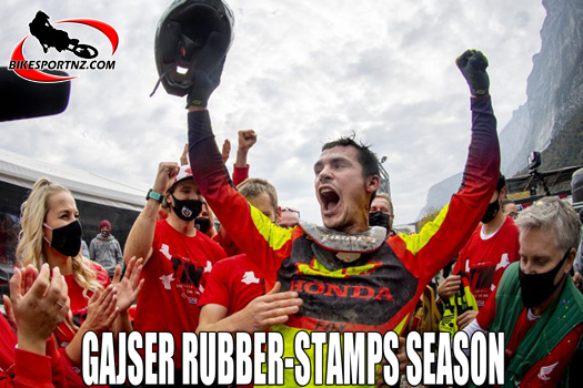 Tim Gajser signs off campaign with a win