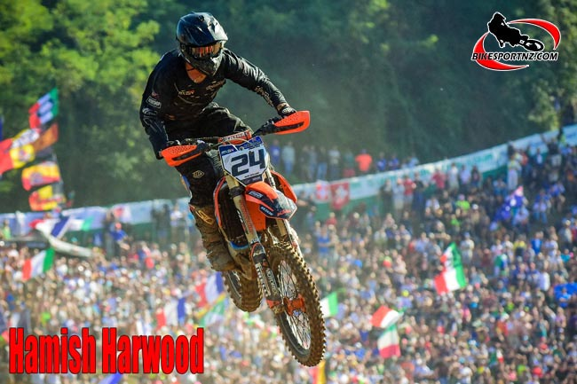Hamish Harwood, in action for Team New Zealand at the 2016 Motocross of Nations in Italy. Photo by Andy McGechan, BikesportNZ.com
