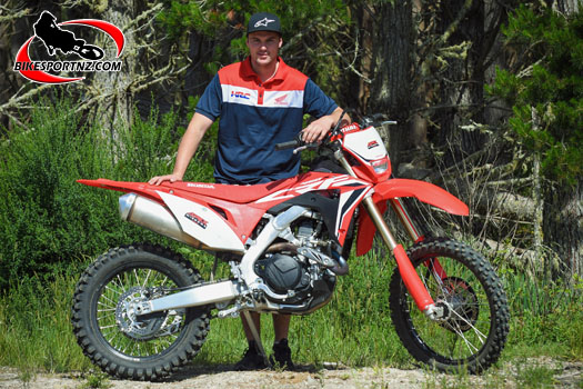Taupo's Hadleigh Knight (Honda CRF450X), now with the 2019 Dirt Guides Series win in the bag. Photo by Andy McGechan, BikesportNZ.com