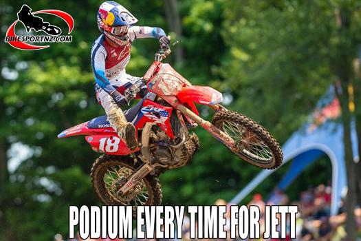 Aussie rider on podium every round so far in the USA