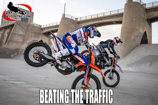 Motocross stunt riding in Los Angeles