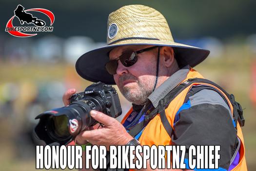 Special honour for BikesportNZ editor Andy McGechan