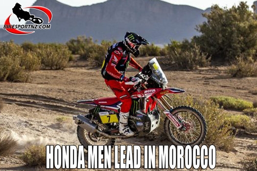 Honda riders leading the way in Morocco