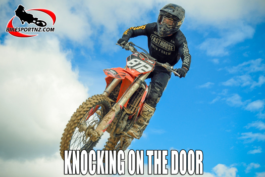 Young men who are knocking on the door