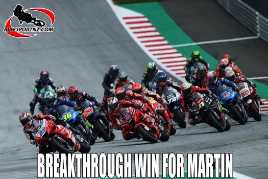 Ducati rider takes win at Austrian GP