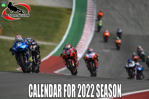 The MotoGP calendar for the 2022 season
