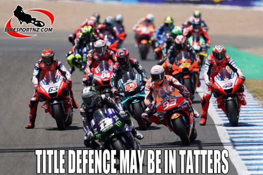 Marc Marquez title defence may be in tatters