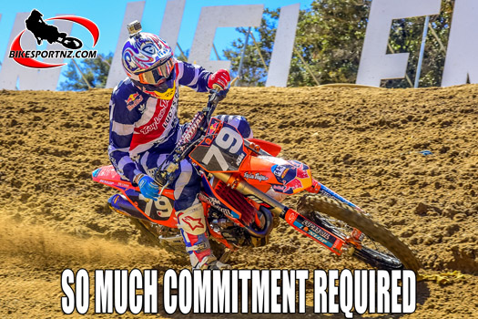 So much commitment required for motocross