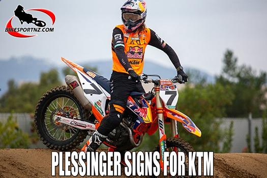 Aaron Plessinger signs KTM deal for 2022